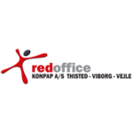 Red office logo and link